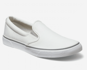 White Slip On Men's Shoes. Father's Day gift ideas